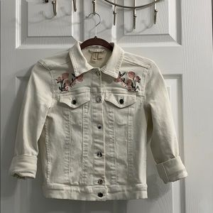 H&M white jeans jacket
